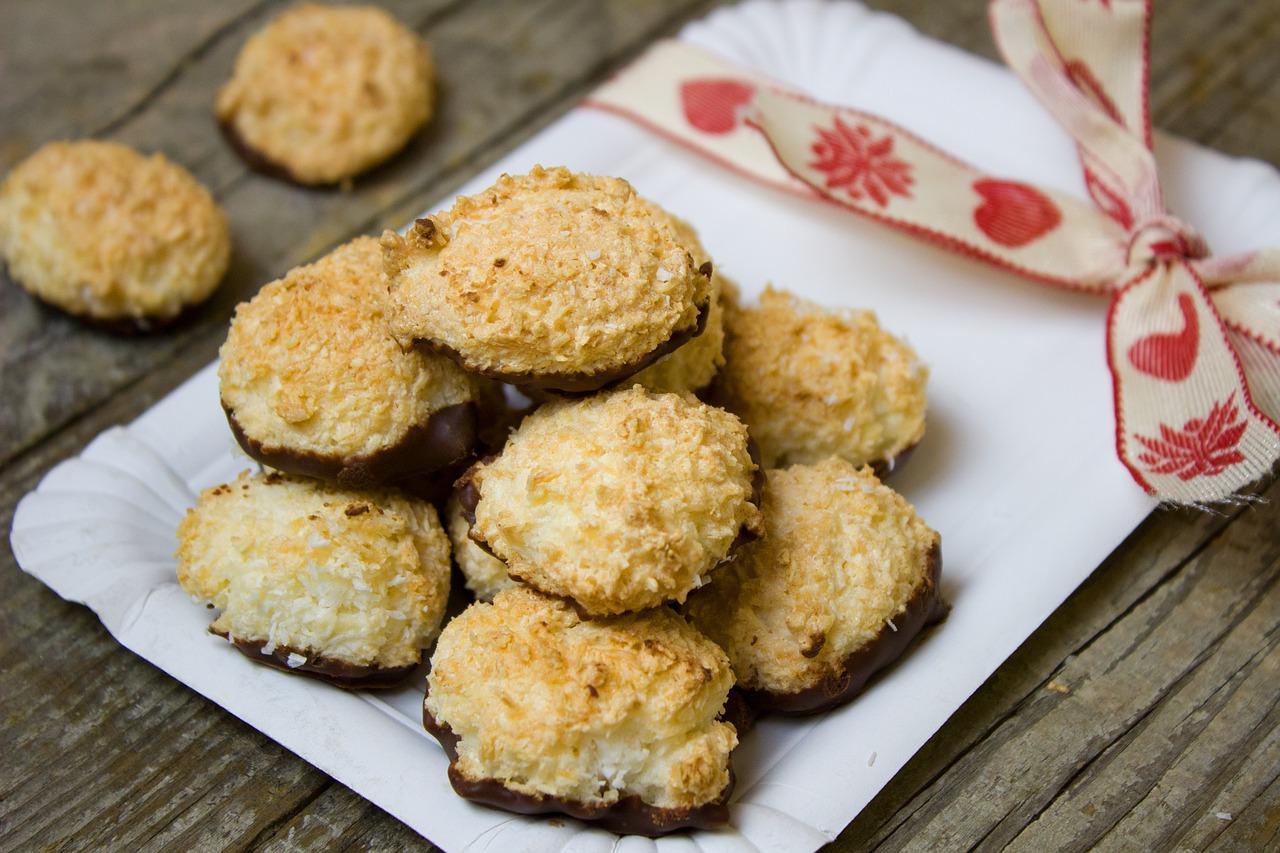 Kokosmakronen Rezept mit Honig & Kokosmilch