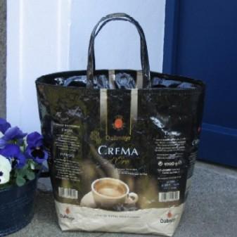 Kaffee Kunst in Taschenform