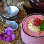 Leichtes Dessert: Himbeere Creme