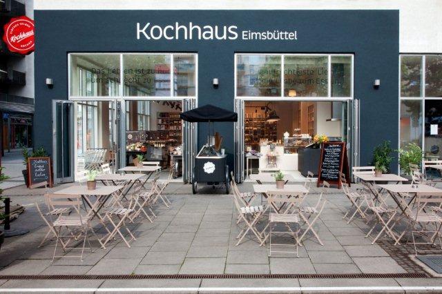 Kochhaus in Hamburg Eimsbuettel von Aussen
