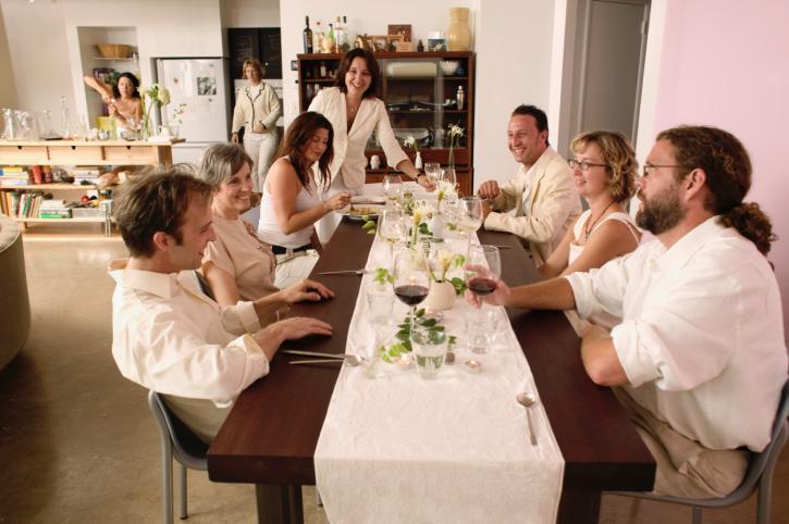 Dinnerparty zusammen genießen