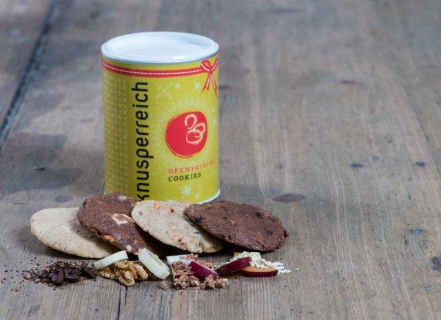Knusperreich.de bietet handgefertigte Cookies in Bio Qualität