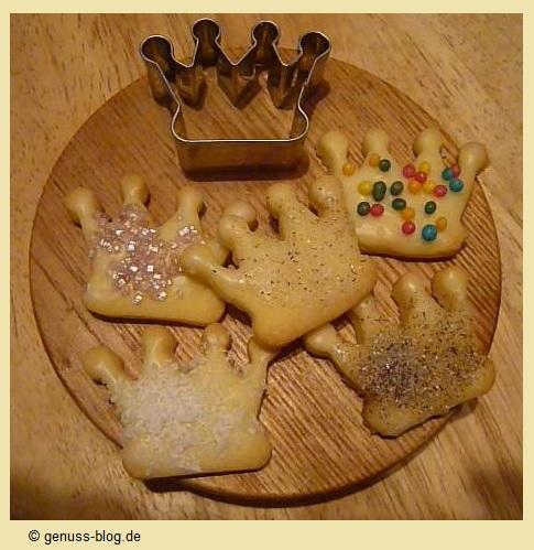 Kekse für Prinzessinnen- Krone Keksausstecher