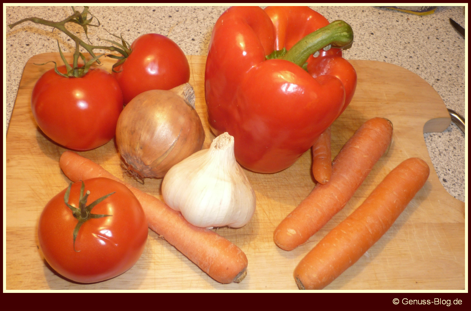Paprika-Moehren-Eintopf-Zutaten