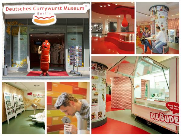 Collage mit Bildern rund um das Currywurst Museum
