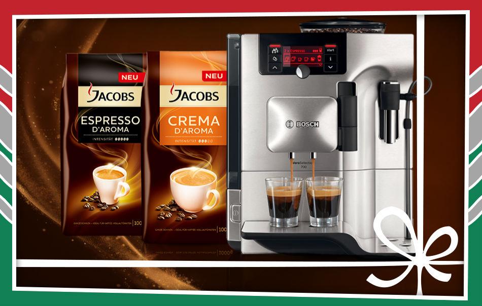 Gewinnspiel auf Genuss-Blog: Kaffeevollautomat von Bosch in Kooperation mit Jacobs D'Aroma! ESS 13.12.2014