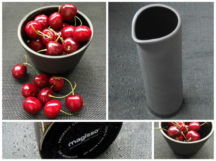 Magisso Cool-ID Keramik Geschirr Collage mit Karaffe + Schale